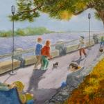 Morning on the Boardwalk      image 10 x 14