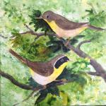 Yellowthroats  image 8 x 8       [sold]